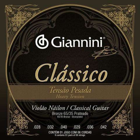 Imagem de Encordoamento Giannini  P/ Violão Náilon Clássico -- Tensão Alta -- GENWPA