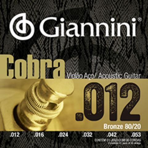 Imagem de Encordoamento giannini violão bronze 80/20 light 012 ca82l