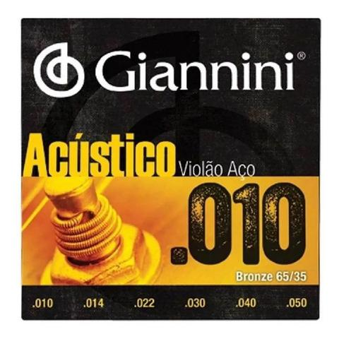 Imagem de Encordoamento giannini violao geefle bronze 85/15 0.010