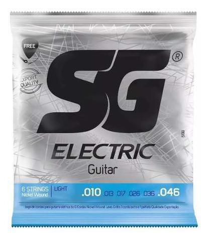Imagem de Encordoamento Guitarra Sg Strings .010 Nickel