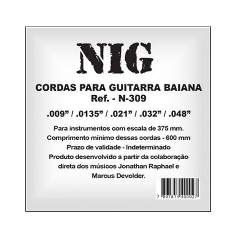 Imagem de Encordoamento NIG P/ Guitarra Baiana 9/48 - EC0015