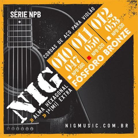 Imagem de Encordoamento NIG P/ Violão Aço NIG NPB520 .011/.050 Fósforo Bronze - EC0241