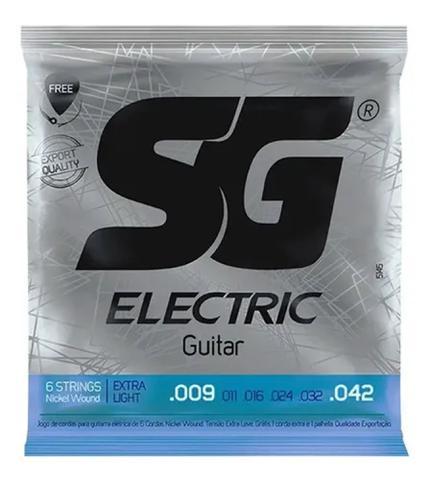 Imagem de Encordoamento P/ Guitarra 09 Sg + 1ª Mi Extra E Palheta