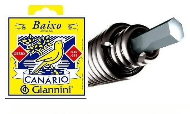 Imagem de Encordoamento para Baixo 4 cordas Giannini Canário GESBX