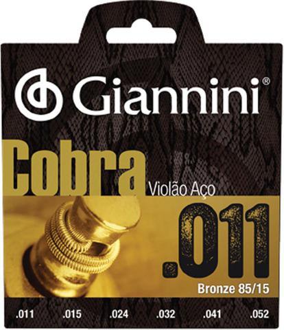 Imagem de Encordoamento para violão aço cobra .011 bronze geeflk