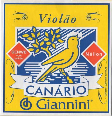 Imagem de Encordoamento Para Violao De Nylon Canario Giannini Genwb Bolinha - KIT Com 6 Jogos