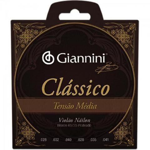Imagem de Encordoamento Para Violão GENWPM Série Clássico Nylon Média - Giannini