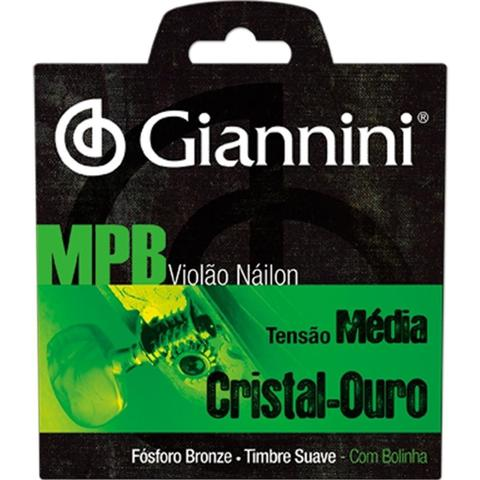 Imagem de Encordoamento Para Violão Giannini Genwg Com Bolinha Nylon Media
