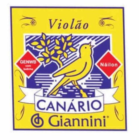 Imagem de Encordoamento Para Violão Nylon Com Bolinha Canario Gianini
