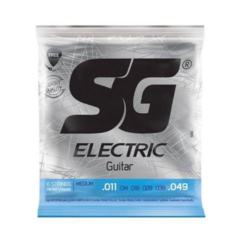 Imagem de Encordoamento SG Eletric P/ Guitarra Nickel Light 11/49 - EC0381