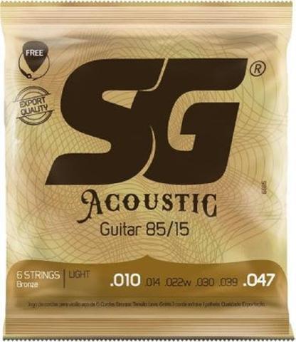 Imagem de Encordoamento SG Para Violão Aço Bronze 85/15 010