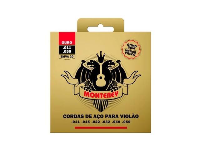 Imagem de Encordoamento Violão Aço Monterey By Solez Ouro 0.11 Emva20