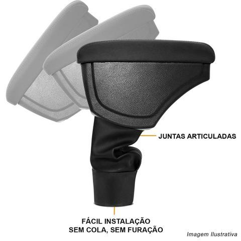 Imagem de Encosto Descanso Braço Apoio Duster 11 a 19 Oroch 15 a 19 Preto Couro Ecológico Encaixe Porta Copos