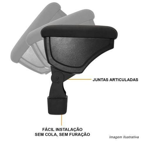 Imagem de Encosto Descanso Braço Apoio Onix 13 a 19 Prisma 12 a 19 Preto com Costura Bege Couro Ecológico