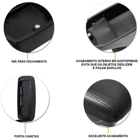Imagem de Encosto Descanso de Braço Apoio Citroen C3 13 a 19 com Porta Objetos Eco Couro Encaixe Porta Copos