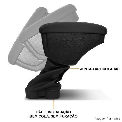Imagem de Encosto Descanso de Braço Apoio Ka Hatch Ka+ Sedan 15 a 19 Preto Costura Cinza Encaixe Porta Copos