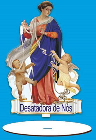 Imagem de Enfeite Arte em Madeira MDF e Tecido colado com Base Desatadora de Nós AMTB-010 - Litoarte