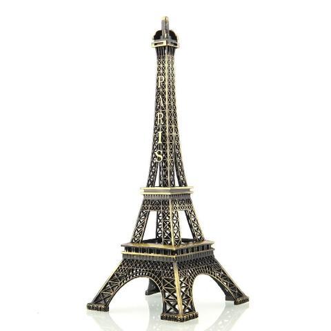 Imagem de Enfeite Miniatura Torre Eiffel Metal Paris Decoração 10cm