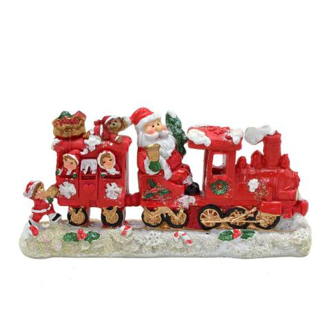 Imagem de Enfeite Papai Noel Na Locomotiva 8cm Espressione Christmas