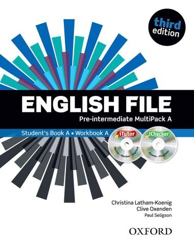 Imagem de English file pre-intermediate a with itutor and ichecker - 3rd edition