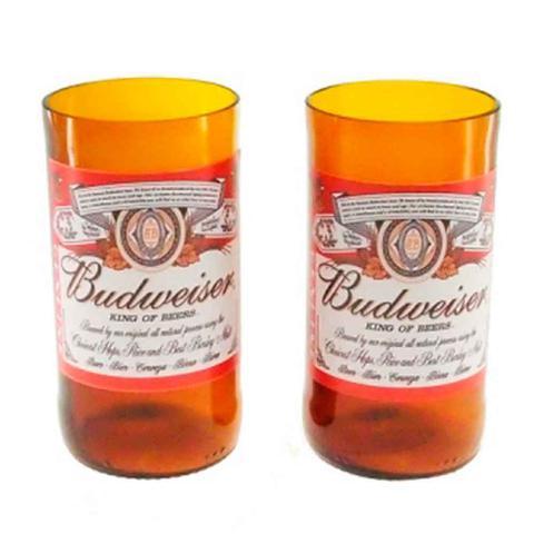 Imagem de Engradado Com 6 Copos De Vidro Budweiser Retrô