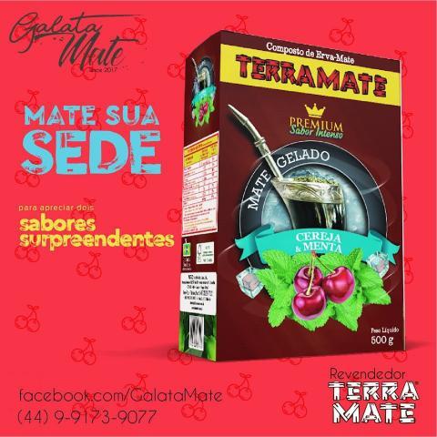 Imagem de Erva Terere Terra Mate Premium Cereja Menta 500g