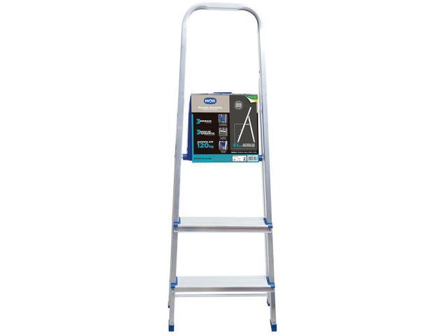 Imagem de Escada 3 Degraus Alumínio Mor