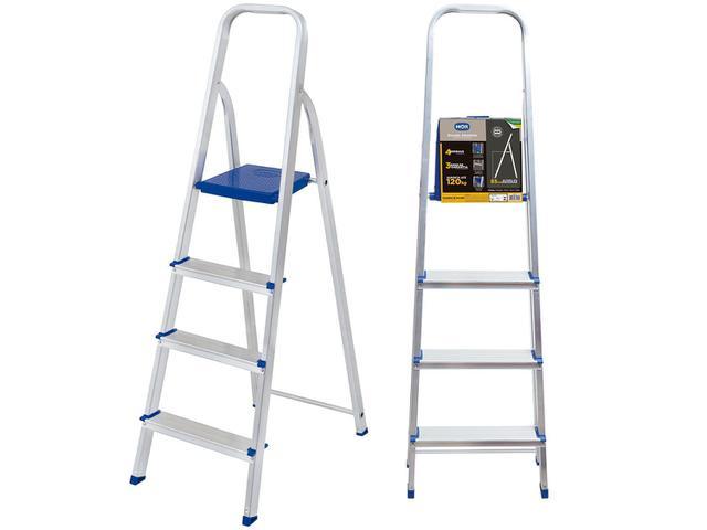 Imagem de Escada 4 Degraus Alumínio Mor