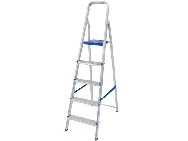 Imagem de Escada 5 Degraus Alumínio Mor