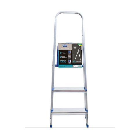 Imagem de Escada de alumínio 3 degraus modelo residencial
