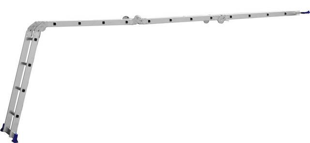Imagem de Escada Multifuncional 4x4 16 Degraus com Plataforma em Aço - MOR 5134
