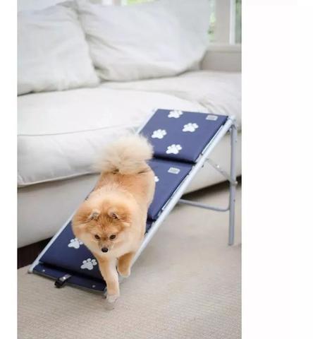 Imagem de Escada Para Cães Cachorro Dobravel Rampa Tubline Pet Azul