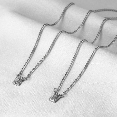 Imagem de Escapulário de Aço Steel Nossa Senhora Aparecida e Sagrado Coração de Jesus