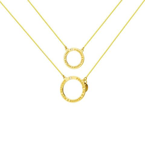 Imagem de Escapulário de Ouro 18k Salmos 23:1 e 91:9 com Diamantes ga03533