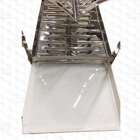 Imagem de Escorredor 16 Pratos Montado Porta Talher Inox e Bandeja Coletora de Água - Makinox