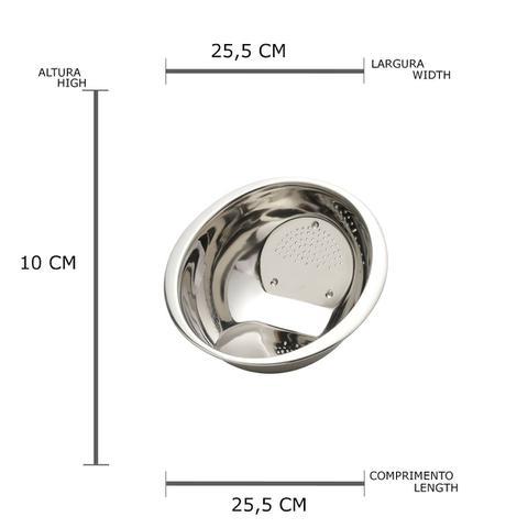 Imagem de Escorredor Aço Inox Para Arroz de 25cm 2223 Prime Coliseu