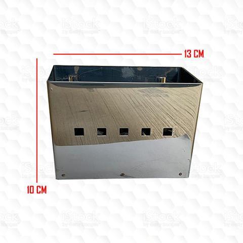 Imagem de Escorredor de Louça 12 Pratos Inox com Porta Talher de Inox - Makinox