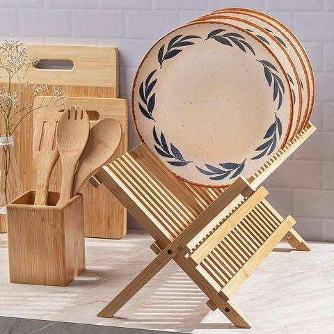 Imagem de Escorredor de Louça Bambu 43 cm x 33 cm - Home Style