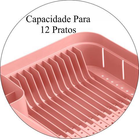 Imagem de Escorredor de Louças Trium 12 Pratos Pia Cozinha - Cores