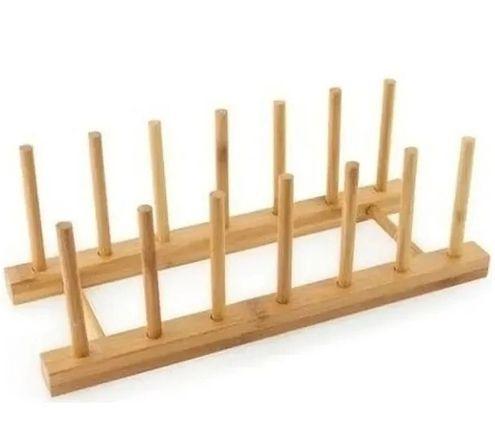 Imagem de Escorredor De Pratos Copos Talheres Em Bambu Bancada Pia