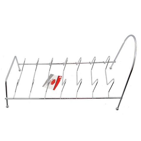 Imagem de Escorredor de Pratos em metal e suporte para tampas