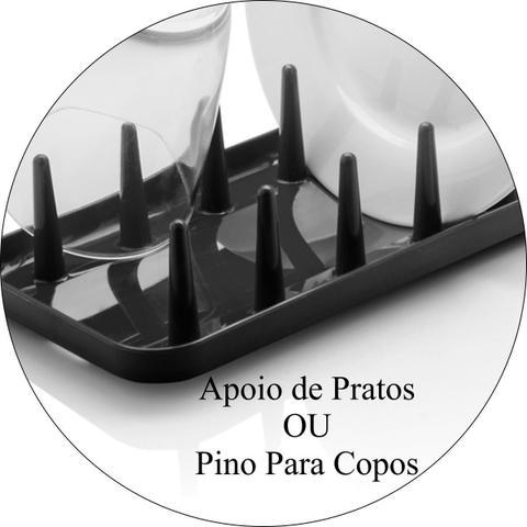 Imagem de Escorredor de Pratos Prático Lixeirinha de Pia 2,5L - Preto