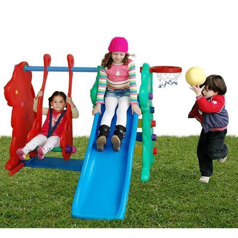 Imagem de Escorregador Com Balanço Polietileno Alpha Brinquedos