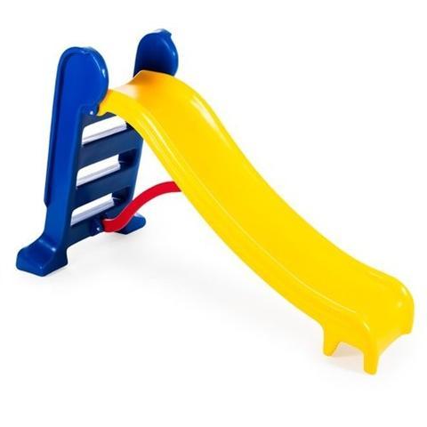 Imagem de Escorregador Médio Divertido - Escada Azul e Rampa Amarela
