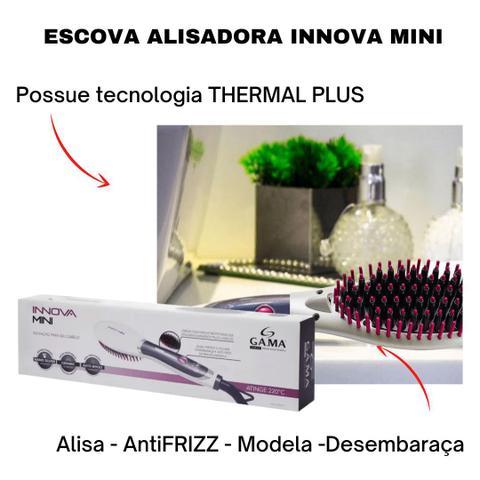 Imagem de Escova alisadora Modeladora ceramica digital Gama Italy Innova Mini bivolt 220º