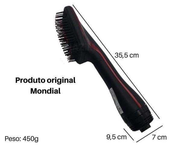 Imagem de Escova Alisadora Mondial ES-01 1200w Preta/Vermelha