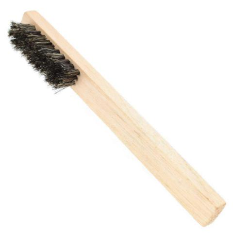 Imagem de Escova aplicação de Graxa e Creme para Calçados - Crina Natural - Madeira