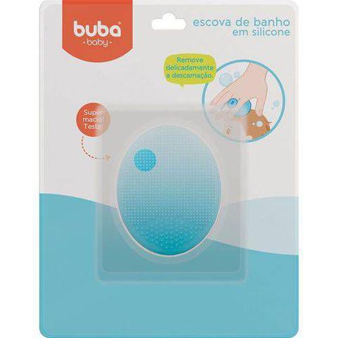 Imagem de Escova De Banho Em Silicone Azul/Rosa - Buba