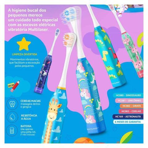 Imagem de Escova Dental Elétrica Infantil Health Pro Multilaser Girafa - HC082