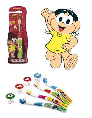 Imagem de Escova dental Infantil Cerdas Macias com Capa Protetora A Turma da Mônica - Magali